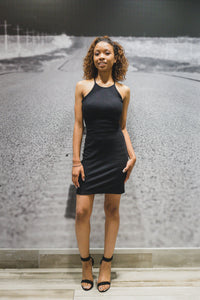 Black ribbed dress - a.o.allure