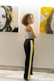 Black/white /mustard pants - a.o.allure