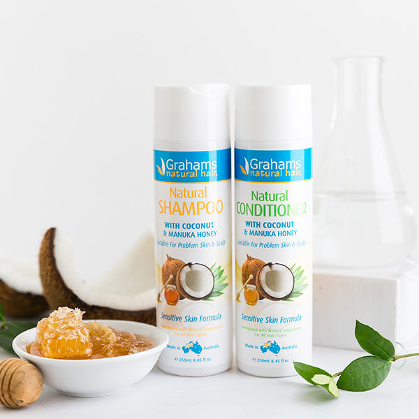 Grahams natural shampoo and conditioner for sensitive skin and scalp