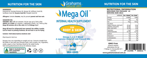 Grahams Natural Mega Oil essential fatty acids