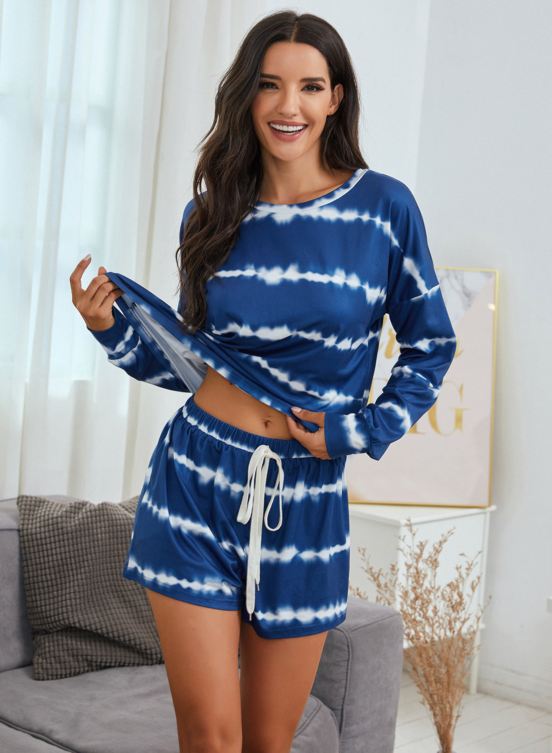Women Tie Dye Pajamas Set - Aceshin