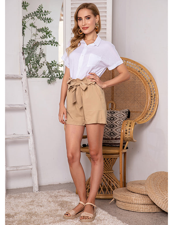 Astoria Elastic Pleated Shorts