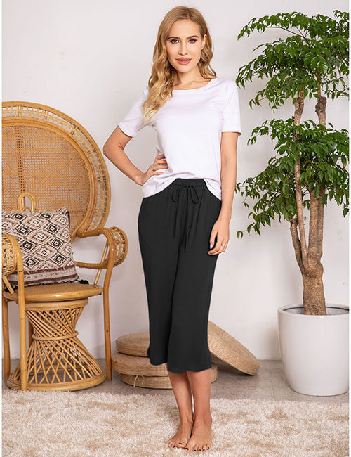 Manhattan Breeze Lace-up Loose Pants - Aceshin