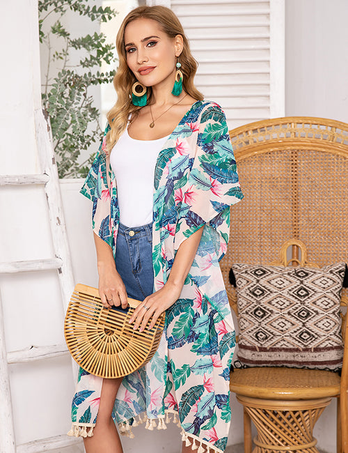 Monterey Charm Beach Cover-up (3 Floral Patterns) - Aceshin