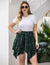 Sunset Plaid Asymmetric Skirt