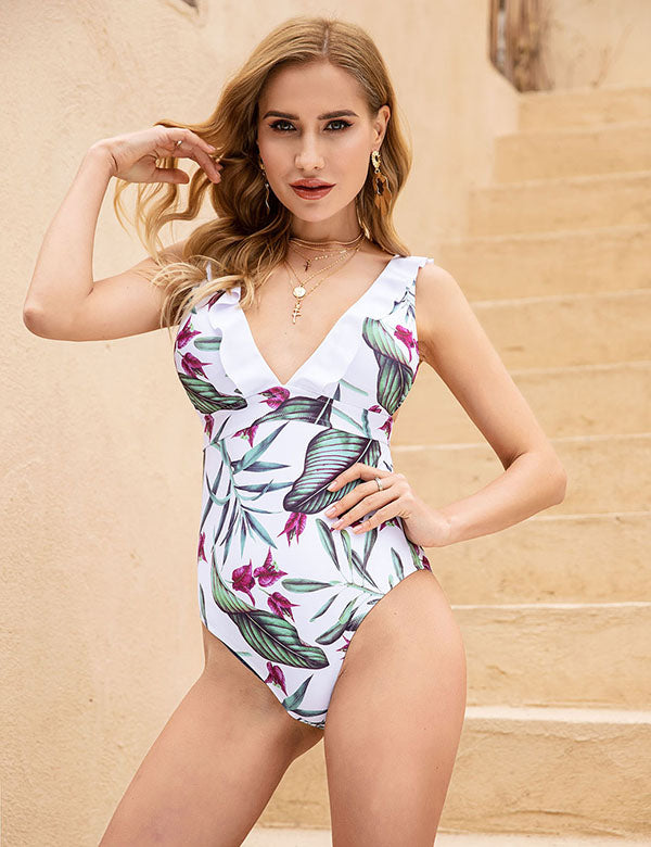 Oahu Island Swimsuit (Floral 1)