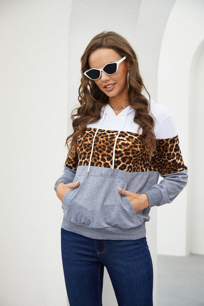 Drawstring Hoodies Pullover Tops - Aceshin