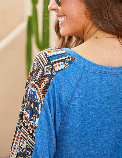 River Kenai Lantern Sleeve Top - Aceshin
