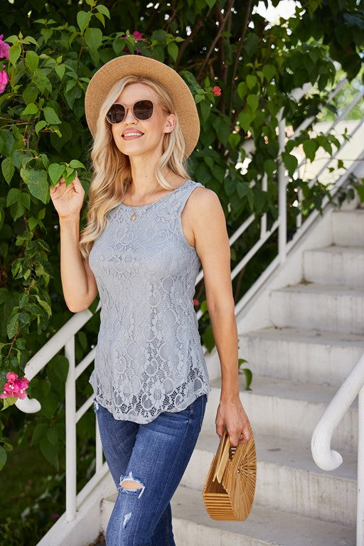 Marietta Sleeveless lace top - Aceshin