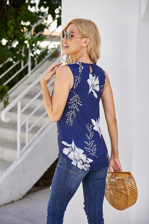 Yosemite Tropical Sleeveless Top