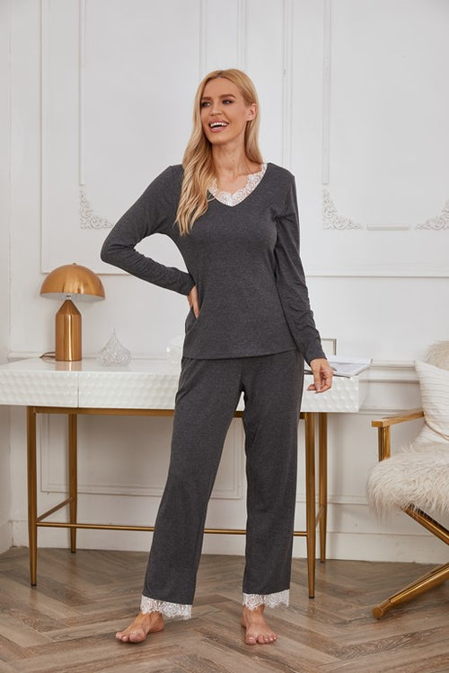 Athens Lace Embroidery Sleepwear - Aceshin