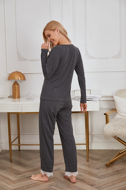 Athens Lace Embroidery Sleepwear