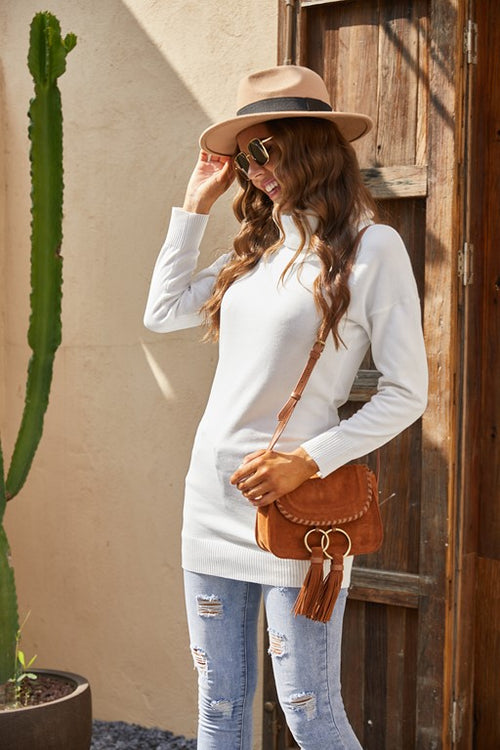 High Neck Middle Length Premium Sweater - Aceshin