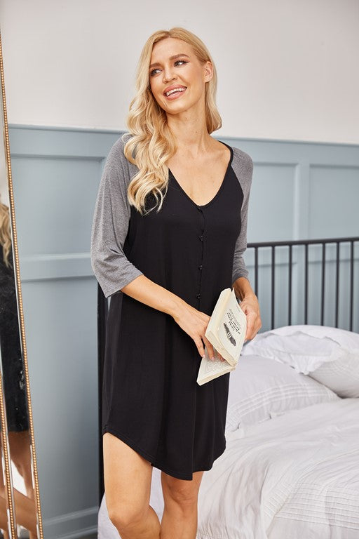 Paterson Button up Nightgown
