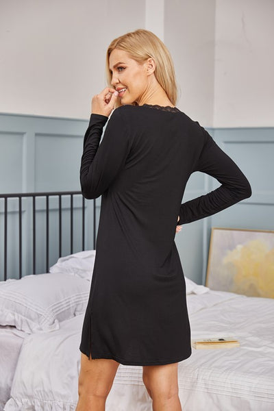 Alton Long Sleeve Nightdress - Aceshin