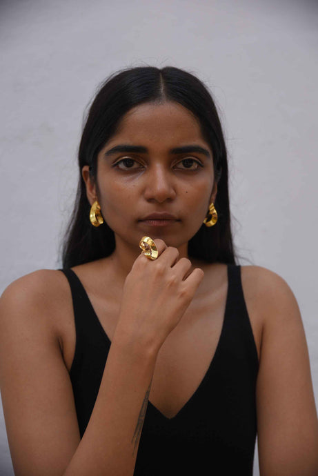Fold earrings - Gold