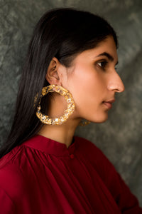 Wave hoops ~ gold
