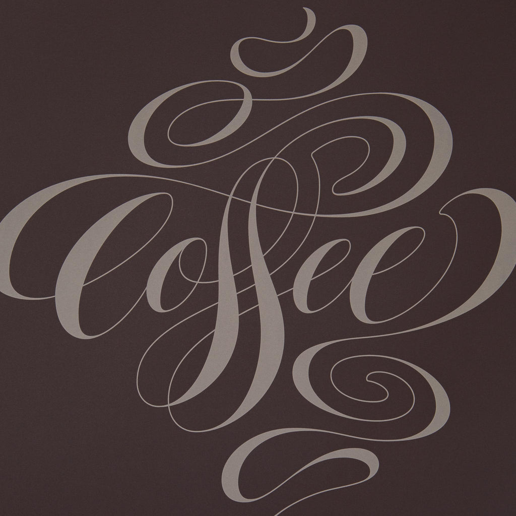 Coffee Lettering Screen Print