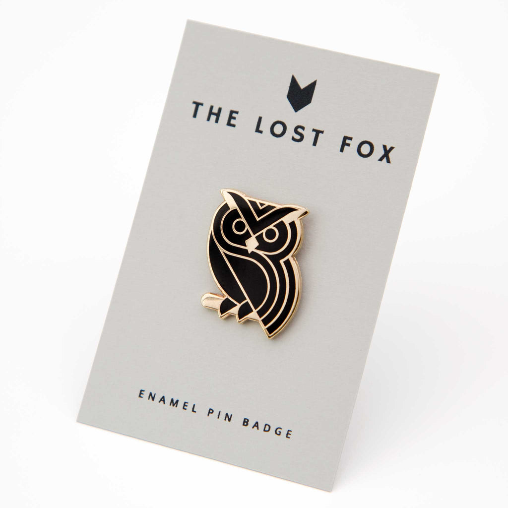Owl Pin Badge #2
