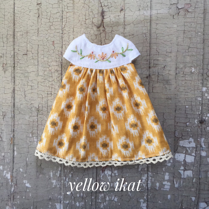 A summery smock - Yellow Ikat