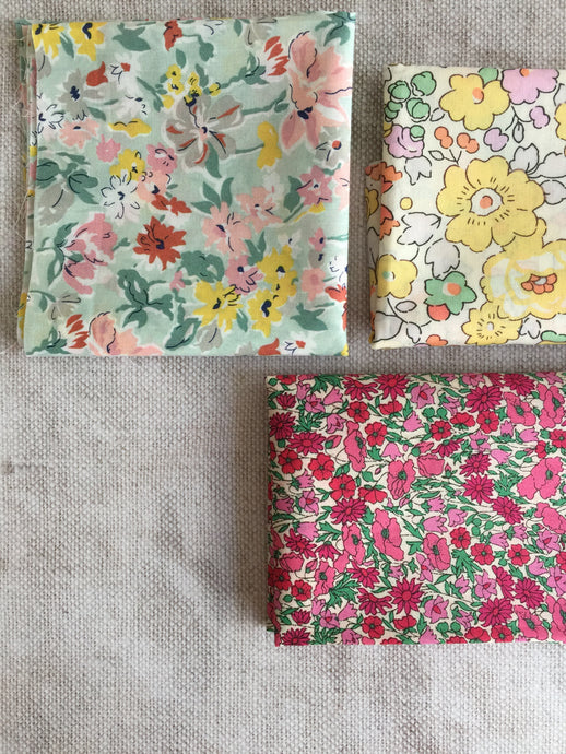 1. Liberty Fabric Scrap packs