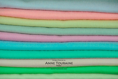 scarves-cashmere-silk-pashmina-shoulder-wraps-stoles-pastel-colors-ANNE TOURAINE Paris™