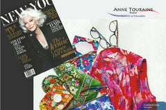FLORAL green scarf by ANNE TOURAINE Paris™ scarves as featured in Spring 20015 NEW YOU magazine