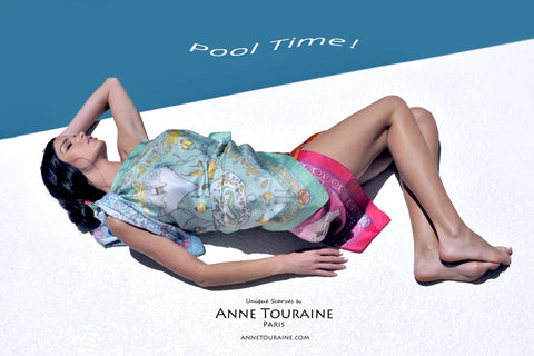 Silk from head to toe with scarves by ANNE TOURAINE Paris™