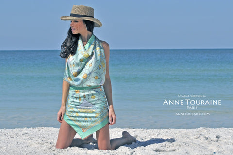 Halter top + sarong scarves by ANNE TOURAINE Paris™