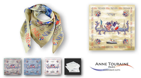 corporate gift ideas for women silk scarves and silk ties by anne touraine usa