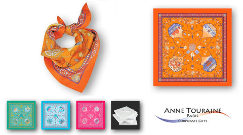 corporate gifts for women executives - luxury silk scarves by Anne Touraine Paris™
