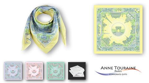 corporate gifts for women executives - Paris silk scarves collection from France
