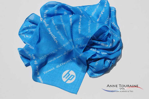 Custom scarves and Ties by ANNE TOURAINE, Inc.