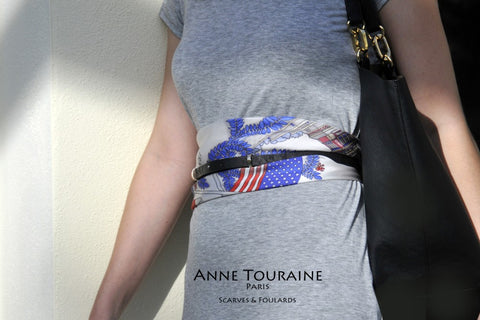 Fine silk scarves turned into dazzling silk belts by ANNE TOURAINE Paris™