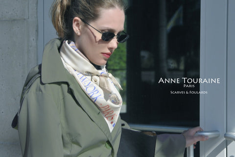 French scarves by ANNE TOURAINE Paris™ and trench coat