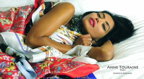 ANNE TOURAINE Paris™ silk scarves: a large choice of colors!