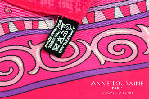 french silk scarves care instructions anne touraine paris france
