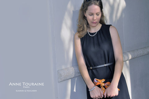 silk-twill-scarves-scarf-orange-silk road-french-paris-fashion-2014-bowtie-anne-touraine