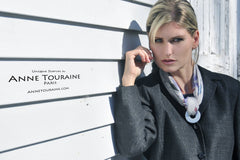 French scarf and scarf pendants by ANNE TOURAINE Paris™
