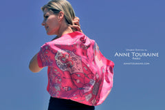 French silk scarves: this exclusive creation from ANNE TOURAINE Paris™ scarves catches the eye