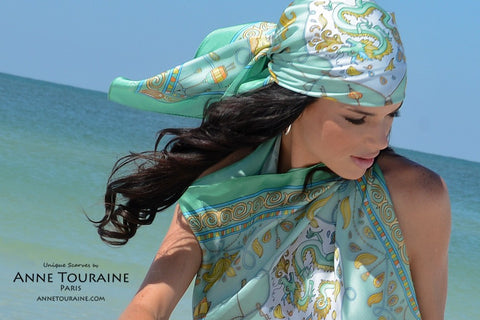 french-silk-scarves-scarf-custom-scarves-paris-head-scarves-wraps-pirate-style-how-to-wear-summer-fashion-trend-2014-2015-green-silk-road-