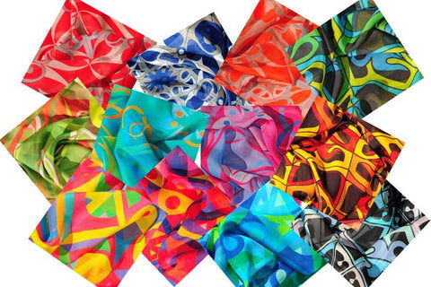 ANNE TOURAINE Paris™ collection of extra large silk chiffon scarves