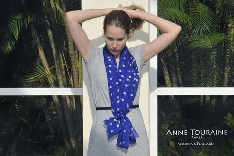 infinity-scarves-scarf-french-silk-blue-custom-scarves-polka-dot-paris-loop-fashion-trend-2014-2015