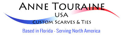 LOGO ANNE TOURAINE USA CUSTOM SCARVES TIES BOW TIES AND POCKET SQUARES
