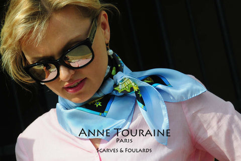 ANNE TOURAINE Paris™ silk scarves: unique creations for true scarf lovers!