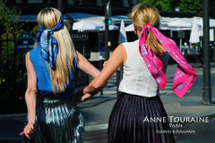 Create amazing summer hairstyles with silk scarves and learn how to beat the heat with elegance