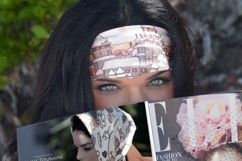 ANNE TOURAINE Paris™ scarves: silk scarf as a summer headband