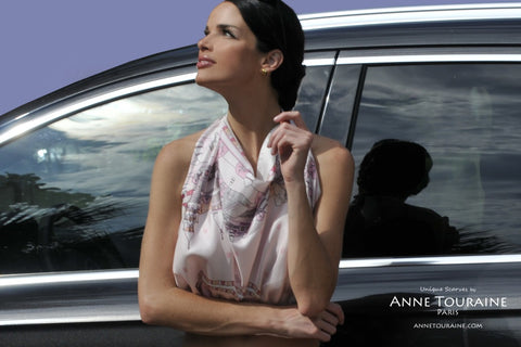How to wear scarves in the summer... A superb halter top made with an ANNE TOURAINE Paris™ silk scarf