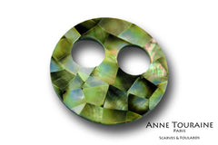 Large, modern and versatile scarf ring or scarf pendant: a unique creation by ANNE TOURAINE Paris™
