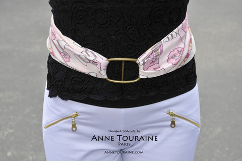 trendy-french-scarf-scarves-twill-silk-carres-soie-pink-rose-classic-square-belt-silky-anne-touraine-paris
